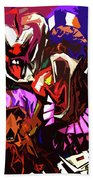 Scary Clowns Abstract Beach Towel