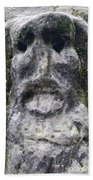 Scary Stone Head Beach Towel