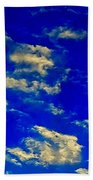 Scattered Clouds Beach Towel