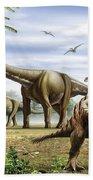 Scelidosaurus, Nothronychus Beach Towel