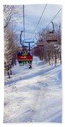 Scenery Around Timberline Ski Resort West Virginia Beach Towel