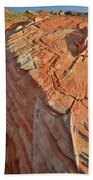 Scenic Sandstone In Valley Of Fire Beach Towel