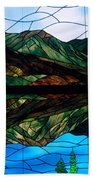 Scenic Stained Glass  Beach Towel