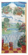 Scenic View From The Terrace Beach Towel