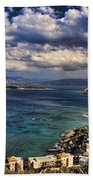 Scenic View Of Eastern Crete Beach Towel