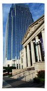 Schermerhorn Symphony Center Nashville Beach Towel by Susanne Van Hulst