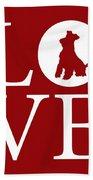 Schnauzer Love Red Beach Towel