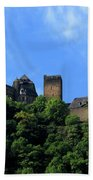 Schoenburg Castle Oberwesel Germany Beach Towel