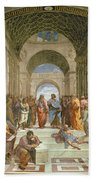 School Of Athens From The Stanza Della Segnatura Beach Towel by Raphael