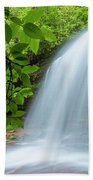Schoolhouse Falls In Panthertown Valley North Carolina Beach Towel