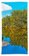 Schroon River Reflection In The Adirondacks-new York Beach Towel
