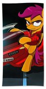 Scootaloo The Protester Beach Towel