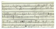 Score For The Opening Of Swan Lake By Tchaikovsky Beach Sheet
