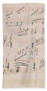Score Sheet Of Moonlight Sonata Beach Towel