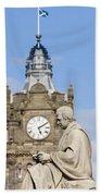 Scott Statue And Balmoral Clock Tower Beach Towel