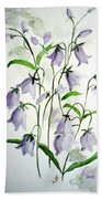 Scottish Blue Bells Beach Towel