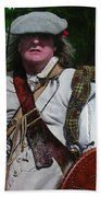 Scottish Soldier Of The Sealed Knot At The Ruthin Seige Re-enactment Beach Towel