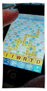 Scrabble Beach Towel by Ron Bissett