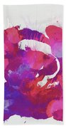 Scrambled Sunrise 2017 - Pink And Purple On White Beach Towel