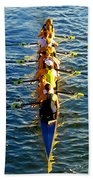Sculling Women Beach Towel