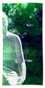 Sculpture In A Park Beach Towel by Susanne Van Hulst