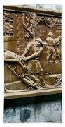 Sculpture Torture At Hoa Lo Prison Hanoi Beach Towel