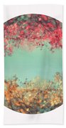 Gold And Pink Beach Towel