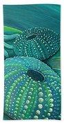 Sea Anemone Kina By Reina Cottier Beach Sheet