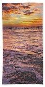 Sea At Sunset In Algarve Beach Towel