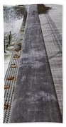 Sea Cliff Seawall Boardwalk Beach Towel