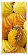 Sea Horse And Sea Shells Beach Towel