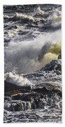 Sea In Turmoil Beach Towel