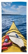 Sea Kayaking Beach Towel