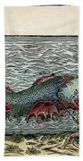 Sea Monster, 16th Century Beach Towel