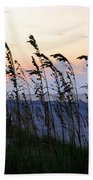 Sea Oats Silhouette Beach Towel