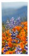 Sea Of California Wildflowers Beach Towel