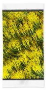 Sea Of Yellow Beach Towel