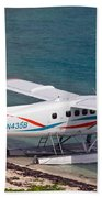Sea Plane At Dry Tortugas National Park Beach Towel