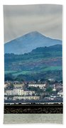 Sea Point And Sugar Loaf Mountain Beach Towel