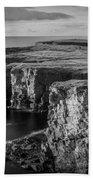 Sea Stacks, Yesnaby, Orkney, Scotland Beach Towel