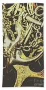 Sea Tides And Maritime Anchors Beach Towel