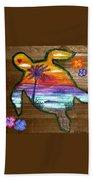 Sea Turtle Love Beach Towel