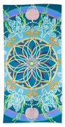 Sea Turtle Mandala  Beach Towel