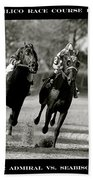 Seabiscuit Vs War Admiral, Match Of The Century, Pimlico, 1938 Beach Towel