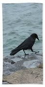 Seafaring Crow Beach Towel