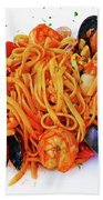 Seafood Pasta Beach Towel