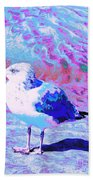 Cool And Colorful Gull Beach Towel