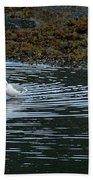 Seagulls-signed-#9360 Beach Towel