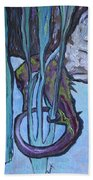Seahorse Anchored Beach Towel