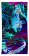 Seahorse In A Lightning Storm Beach Towel